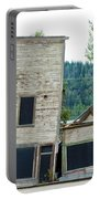 Goldrush Heritage Buildings In Dawson City Yukon Portable Battery Charger