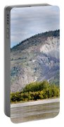 Goldrush Town Dawson City From Yukon River Canada Portable Battery Charger