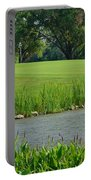 Golf Course Lay Up Portable Battery Charger by Frozen in Time Fine Art Photography