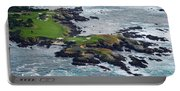 Golf Course On An Island, Pebble Beach Portable Battery Charger
