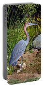 Goliath Heron By Water Portable Battery Charger