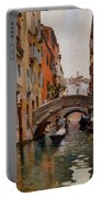 Gondola On A Venetian Canal Portable Battery Charger