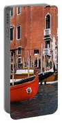 Gondolas In A Canal, Grand Canal Portable Battery Charger