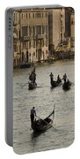 Gondolas On The Grand Canal Portable Battery Charger