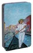 Gondolier At Venice Italy Portable Battery Charger