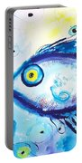 Good Luck Fish Abstract Portable Battery Charger