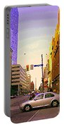 Good Morning Drive By Yonge St Starbucks Toronto City Scape Paintings Canadian Urban Art C Spandau  Portable Battery Charger