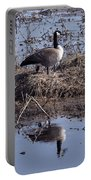 Goose Reflecting On Motherhood Portable Battery Charger