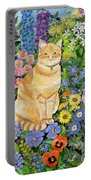 Gordon S Cat Portable Battery Charger by Hilary Jones