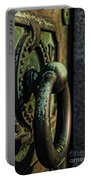 Goth - Crypt Door Knocker Portable Battery Charger by Paul Ward