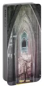 Gothic Arches Hands Folded In Prayer Portable Battery Charger