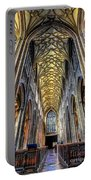 Gothic Architecture Portable Battery Charger by Adrian Evans