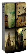 Gothic Churches And Crows Portable Battery Charger
