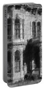 Gothic House Black And White Portable Battery Charger