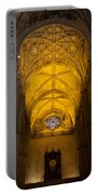 Gothic Vault Of The Seville Cathedral Portable Battery Charger