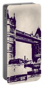 Gothic Victorian Tower Bridge - London Portable Battery Charger