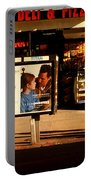 Gourmet Deli And Pizza - New York City Street Scene Portable Battery Charger