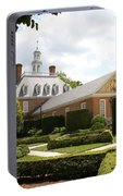 Governers Palace Garden Colonial Williamsburg Va Portable Battery Charger