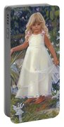 Grace In The Fairy Garden Portable Battery Charger
