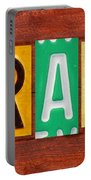 Grace License Plate Name Sign Fun Kid Room Decor. Portable Battery Charger