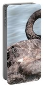 Graceful Black Swan Portable Battery Charger