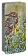 Grackle In Flowers Portable Battery Charger
