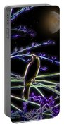 Grackle In The Willow Tree Portable Battery Charger