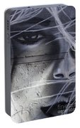 Graffiti Art With Mixed Textures Portable Battery Charger