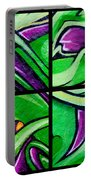 Graffiti In Green Portable Battery Charger