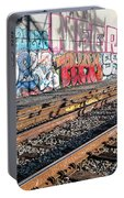 Graffiti On The Wall, Tenth Street Portable Battery Charger