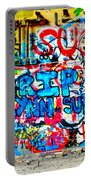 Graffiti Street Portable Battery Charger by Bill Cannon