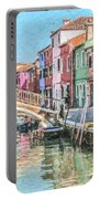Grand Canal Burano  Venice Portable Battery Charger
