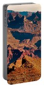 Grand Canyon Navajo Point Panorama At Sunrise Portable Battery Charger
