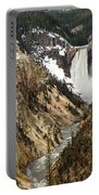 Grand Canyon Of The Yellowstone Portable Battery Charger by Michael Chatt