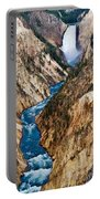 Grand Canyon Of Yellowstone Portable Battery Charger by Bill Gallagher