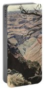Grand Canyon View Weathered Tree Right Side  Portable Battery Charger