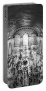 Grand Central Terminal Birds Eye View Bw Portable Battery Charger