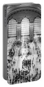 Grand Central Terminal Birds Eye View I Bw Portable Battery Charger