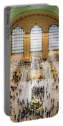 Grand Central Terminal Birds Eye View I Portable Battery Charger by Susan Candelario