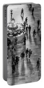 Grand Central Terminal Clock Birds Eye View II Bw Portable Battery Charger
