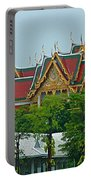 Grand Palace Of Thailand From Waterways Of Bangkok-thailand Portable Battery Charger
