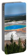 Grand Prismatic Spring From Hillside Portable Battery Charger