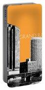 Grand Rapids Skyline - Orange Portable Battery Charger