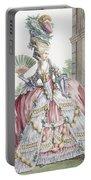 Grand Robe A La Francais, Engraved Portable Battery Charger by Claude Louis Desrais