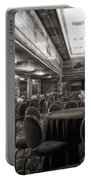 Grand Salon 05 Queen Mary Ocean Liner Bw Portable Battery Charger