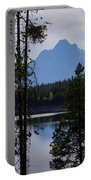 Grand Teton Framed By Cedars Portable Battery Charger