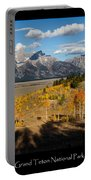 Grand Teton National Park Poster Portable Battery Charger