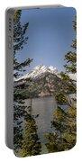 Grand Teton On Jenny Lake - Grand Teton National Park Wyoming Portable Battery Charger
