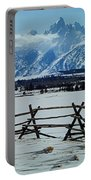 1m9306-grand Tetons From Ranch Country Portable Battery Charger