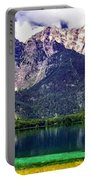 Grand Tetons National Park Painting Portable Battery Charger